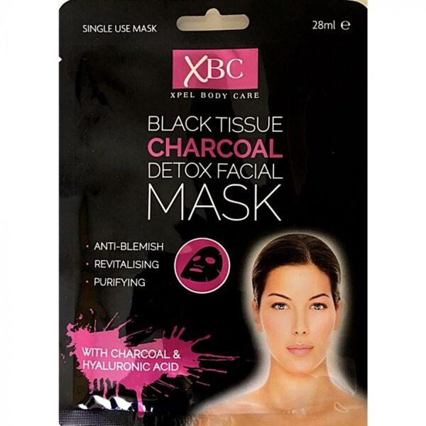 XBC Sejas maska ar aktīvo ogli un hialuronskābi