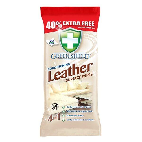 GREEN SHIELD Mitrās salvetes ādas virsmām 70 gb