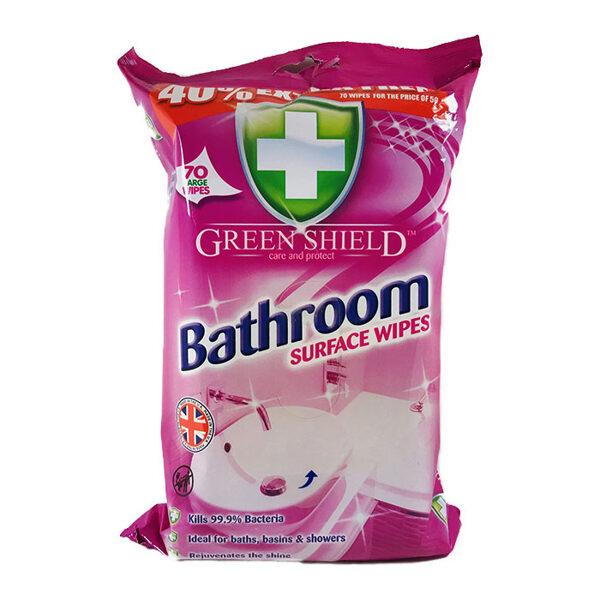 GREEN SHIELD Mitrās salvetes vannas istabai 70 gb