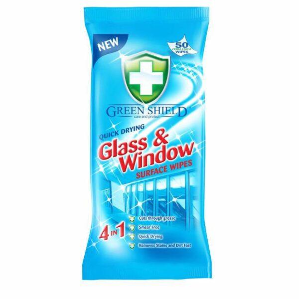 GREEN SHIELD Mitrās salvetes stiklu un logu tīrīšanai 70 gb