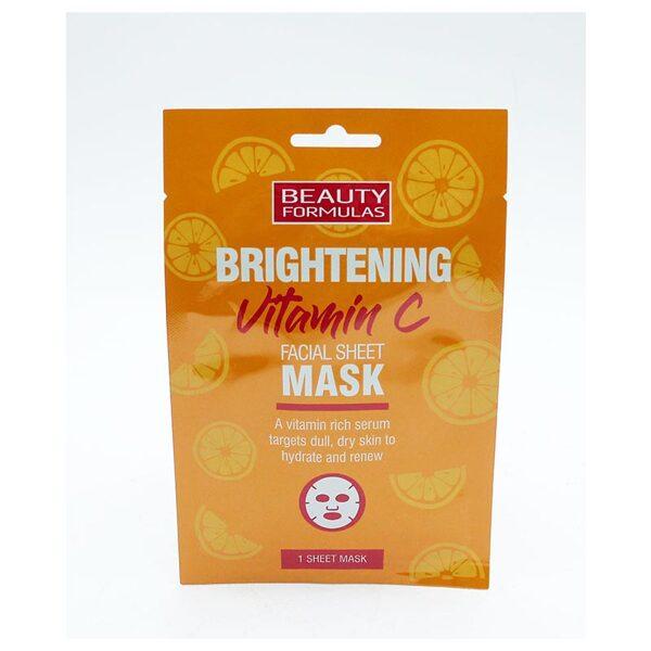 BEAUTY FORMULAS Sejas maska ar vitamīnu C