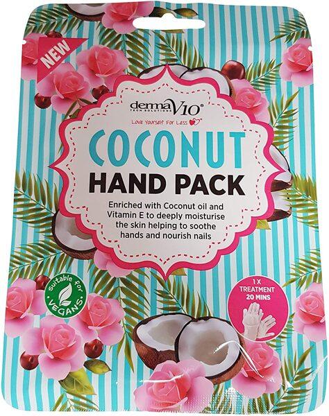 DERMA V10 Maska rokām (cimdiņi) ar kokosriekstu eļļu un vitamīnu E