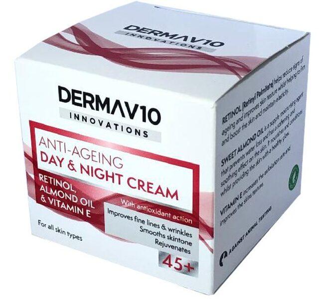 DERMA V10 Pretgrumbu dienas un nakts krēms 50 ml