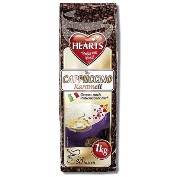 HEARTS CAPPUCCINO  Šķīstošais kapučino dzēriens ar karameļu garšu 1 kg