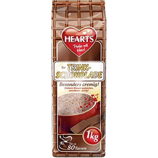 HEARTS TRINKSCHOKOLADE  šķīstošais šokolādes dzēriens 1 kg